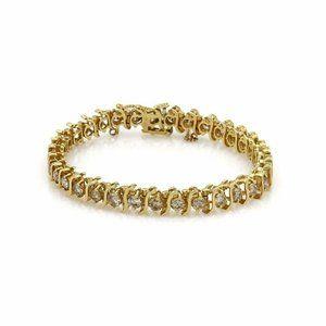 Elegant 5.00ct Diamond 14k YGold Tennis Bracelet